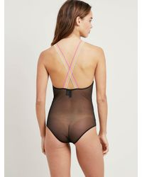 Morgan Lane - Black Sienna Bodysuit In Noir - Lyst
