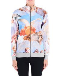 Moschino - Blue Zip Sweatshirt - Lyst