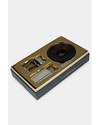 Ted Baker - Burrgs Black 4-in-1 Belt Giftbox for Men - Lyst