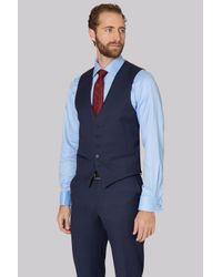 Ted Baker | Tailored Fit Blue Pindot Waistcoat for Men | Lyst