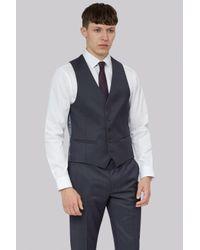 DKNY | Blue Slim Fit Indigo Pindot Waistcoat for Men | Lyst