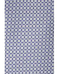 Moss Esq. - Gray Grey Geo Silk Tie for Men - Lyst