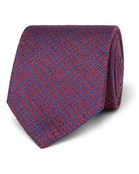 Charvet - Purple 7.5 Prince Of Wales Checked Wool And Silk-blend Jacquard Tie for Men - Lyst
