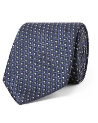 Ermenegildo Zegna | Blue 7cm Silk-jacquard Tie for Men | Lyst