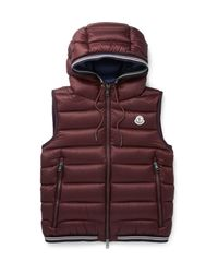 Moncler | Purple Amiens Quilted Shell Hooded Down Gilet for Men | Lyst