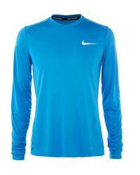 Nike - Blue Miler Mesh-panelled Dri-fit Running T-shirt for Men - Lyst