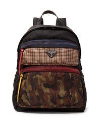 7ae4ed7226b4 Lyst - Prada Printed Nylon Backpack in Brown for Men
