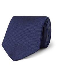 Turnbull & Asser | Blue 8cm Ribbed Silk Tie for Men | Lyst