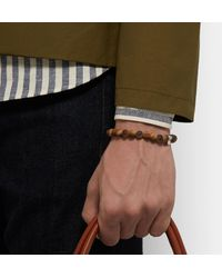 Tateossian - Brown Men's Tiger Eye & Asteroid Bracelet Size M for Men - Lyst