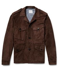 Paul Smith - Brown Slim-fit Suede Field Jacket for Men - Lyst
