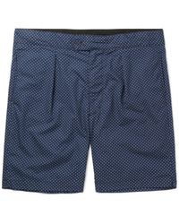 Engineered Garments - Blue Sunset Slim-fit Polka-dot Cotton-poplin Shorts for Men - Lyst