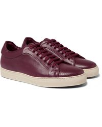Paul Smith - Purple Basso Perforated Leather Sneakers for Men - Lyst