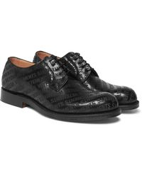 Vetements - Black + Church's Logo-embossed Leather Derby Shoes for Men - Lyst
