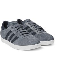 White Mountaineering Gray + Adidas Tobacco Suede Sneakers for men