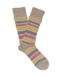 Anonymous Ism - Natural Patterned Knitted Socks for Men - Lyst
