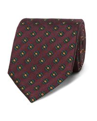 Dunhill - Multicolor 8cm Medallion-patterned Mulberry Silk-jacquard Tie for Men - Lyst