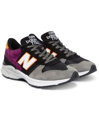 New Balance - Black 770.9 Suede, Leather And Mesh Sneakers for Men - Lyst