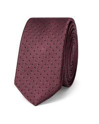 Dolce & Gabbana - Red 4.5cm Polka-dot Silk Tie for Men - Lyst