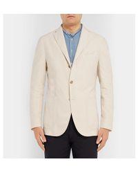 Boglioli - Natural Cream Unstructured Garment-dyed Cotton-corduroy Blazer for Men - Lyst