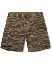 RRL - Green Camouflage-print Cotton-ripstop Cargo Shorts for Men - Lyst