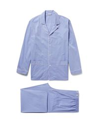 Zimmerli - Blue Mercerised Cotton Pyjama Set for Men - Lyst