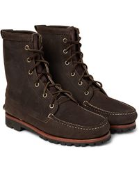 Quoddy - Brown Grizzly Chamois Nubuck Boots for Men - Lyst