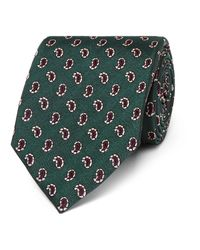 Dunhill - Green 8cm Paisley Mulberry Silk-jacquard Tie for Men - Lyst
