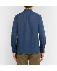 Beams Plus - Blue Linen Shirt for Men - Lyst