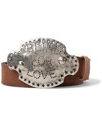 Gucci - 4cm Brown Blind For Love Belt for Men - Lyst