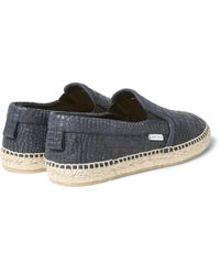 Jimmy Choo - Blue Vlad Croc-effect Leather Espadrilles for Men - Lyst