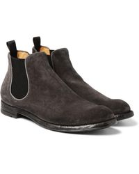 Officine Creative | Multicolor Anatomia Suede Chelsea Boots for Men | Lyst