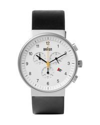 Braun | Black Bn0035 Classic Chronograph Stainless Steel And Leather Watch for Men | Lyst