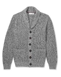 Brunello Cucinelli - Gray Chunky-knit Cotton Cardigan for Men - Lyst