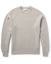 Brunello Cucinelli   Green Ribbed Cashmere Sweater for Men   Lyst