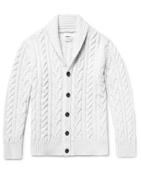 Richard James | Gray Cable-knit Wool Cardigan for Men | Lyst