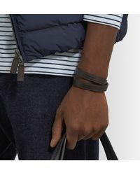 Polo Ralph Lauren - Brown Leather Wrap Bracelet for Men - Lyst