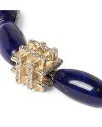 Luis Morais - Purple Lapis, Gold And Diamond Bracelet for Men - Lyst