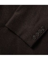 COS - Multicolor Brown Slim-fit Mélange Wool-flannel Blazer for Men - Lyst