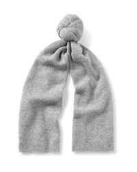 COS | Gray Textured Alpaca-blend Scarf for Men | Lyst