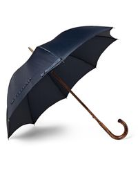Francesco Maglia | Blue Lord Maple Wood-handle Twill Umbrella for Men | Lyst