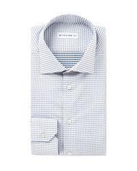 Etro | White Mercurio Slim-fit Polka-dot Cotton Shirt for Men | Lyst