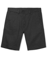 Dolce & Gabbana | Black Slim-fit Polka-dot Stretch-cotton Twill Shorts for Men | Lyst