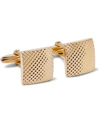 Lanvin | Metallic Textured Gold-tone Cufflinks for Men | Lyst