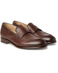 Ermenegildo Zegna | Brown Leather Penny Loafers for Men | Lyst