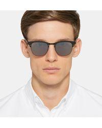Illesteva Black Cordova Square-frame Metal Mirrored Sunglasses for men