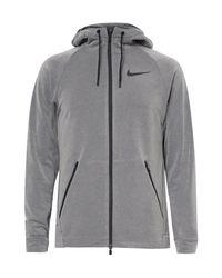 Nike | Gray Dri-fit Zip-up Hoodie for Men | Lyst