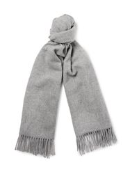 Acne | Gray Canada Mélange Virgin Wool Scarf for Men | Lyst