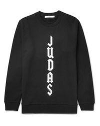 Givenchy | Black Cuban-fit Appliquéd Fleece-back Cotton-jersey Sweatshirt for Men | Lyst