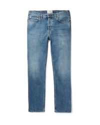 Acne Studios | Blue Van Stonewashed Denim Jeans for Men | Lyst