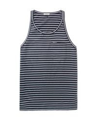 Lanvin | Blue Striped Cotton-jersey Tank Top for Men | Lyst